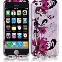 HRW Design Phone Case Cover Skin Compatible With Apple® iPhone 5C , Purple Lily