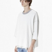 Indie Designs Fear of God Inspired Inside Out Terry Crewneck Sweater