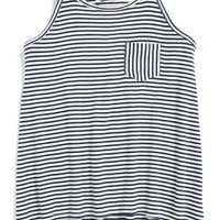 Girl's Freshman Forever Stripe Pocket Tank Top
