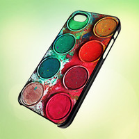 HP567 watercolour palette set design for iPhone 5 Black Plastic Case - leave message for White Case / iPhone 4 or iPhone 4S Case