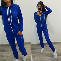 shosouvenir :Nike :Fashion Letter Long Sleeve Shirt Sweater Pants Sweatpants Set Two-Piece Sportswear