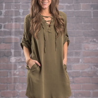 What A Way Dress, Olive