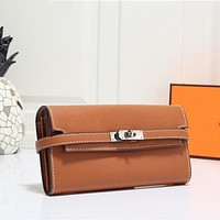 Hermes Classic Handbags Ladies Coin Purse Cosmetic Bag Fashion Ladies Clutch