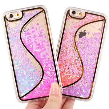 S Style Sequins Move Iphone Case for 6 6s plus