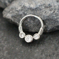 Helix Ring, Rook Hoop, Conch Hoop, Orbital Piercing, Daith Earring, Daith Piercing, Captive Bead Ring, Eyebrow Ring,Lip Jewelry,Lip Piercing