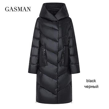 GASMAN 2020 Plus size fashion brand down parka Women's winter jacket outwear clothes women's coat Female puffer thick jacket 206