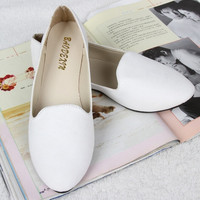 2015 New Fashion Candy Color Women Cloth Fabric Low-cut Upper Round Toe Flat Shoes Women Shoes = 5708816833