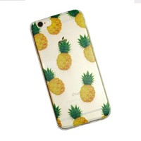 iPhone 6 Case, DECO FAIRY® Protective Case Bumper[Scratch-Resistant] [Perfect Fit] Translucent Silicone TPU Soft Back Cover for 4.7 inches iPhone 6 (Pineapple iPhone 6)