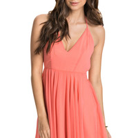 Spaghetti Strap T- Back Pleated Dress