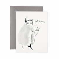 Hello Darling Greeting Card