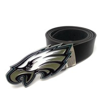 Super Bowl Philadelphia Eagles Belts for jeans Black PU Leather Mens Big Buckle with Belt