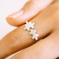 925 sterling Puzzle Ring,Silver ring,adjustable ring,free size ring,memory ring,puzzle pieces,Jigsaw Puzzle ring,men ring,women ring,ABC214