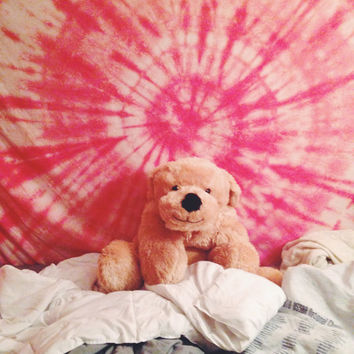 Custom Tie Dye Tapestry Wall Hanging or Sheet