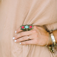 Turquoise Relic Ring