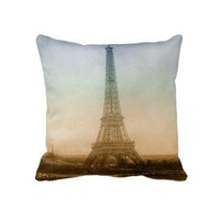 The Eiffel Tower In Paris Pillows from Zazzle.com
