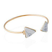 Artificial Rammel Cuff Triangle Bracelet