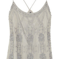 W118 by Walter Baker Monica beaded mesh top – 62% at THE OUTNET.COM