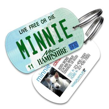 New Hampshire License Plate Pet Tag
