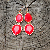 Just Right Earrings - Red