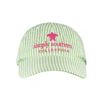 Simply Southern Seersucker Hat - Lime/White