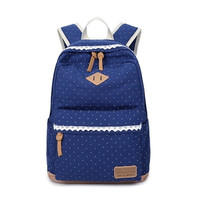 ♡ Trendy Canvas School Backpack ♡