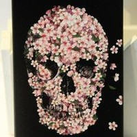 Bestgoods — Cool Pink Flower Skull Hard Cover Case For Iphone 4/4s