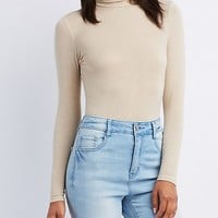 Turtle Neck Fitted Top