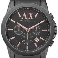 Armani Exchange AX2086 Chronograph Grey Dial Gunmetal Ion-plated Men's Watch