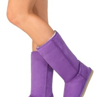 Faux Suede Boots (Purple) from The Wild Orchid
