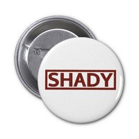 Shady Stamp Pinback Buttons