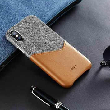 High Grade iPhone X Leather Case
