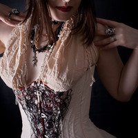 Thread Lace and Peace Silk Underbust Corset