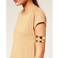 fashion jewelry Latest upper arm bracelet & bangle cuff gold and silver color Iron wire available for women free shipping SL-125