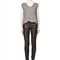 Heather Grey Classic Muscle Tee With Pocket - Alexander Wang