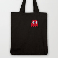 Pac-Man Red Ghost Tote Bag by Psocy Shop