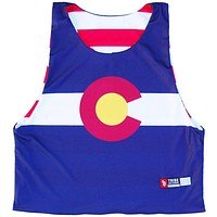 Colorado Flag and American Flag Lacrosse Pinnie