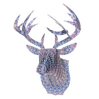 "Iris Lehnhardt ""Summer Lace II"" Circle Purple Bucky Deer Bust Jr."