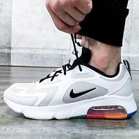 Nike AIR MAX 200 New fashion hook running leisure sports shoes men White