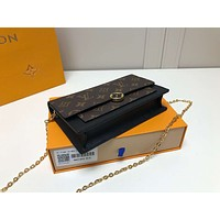 LV Louis Vuitton MONOGRAM CANVAS CHAIN FLORE HAND BAG SHOULDER BAG