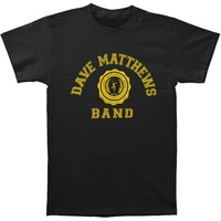 Dave Matthews Band Men's  College Logo Slim Fit T-shirt Black Rockabilia