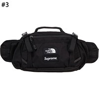 Supreme Joint Name The North Face Tide brand men and women colorblock pockets Messenger bag #3
