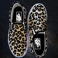 Vans Fashion Shoes Leopard Fisherman shoes Old school Sneakers
