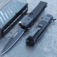 "7"" Italian Milano G10 Stiletto Tactical Spring Assisted Folding Pocket Knife"