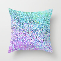 Little Mermaid Throw Pillow by Monika Strigel