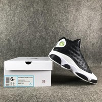 "Air Jordan 13 ""Love & Respect"" Black/White Basketball Shoes 36-39"