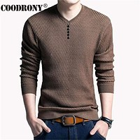 Sweatshirt - Solid Color Pullover For Men / V-Neck Sweater