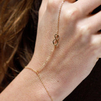 Golden Infinity Ring Bracelet
