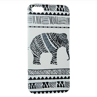 Africa Rustic Elephant Phone Case For iPhone 6 / (4.7) / 4.7 / 5c / 5s / 5 / 4s / 4 Hard Plastic Africa Indian India Primitive Cell Case c55