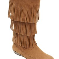 Wide Width Sherry Wide Calf Fringe Boot by Comfortview | Wide Calf Boots from Roamans