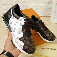 Louis Vuitton LV new personality color matching couple casual sneakers shoes